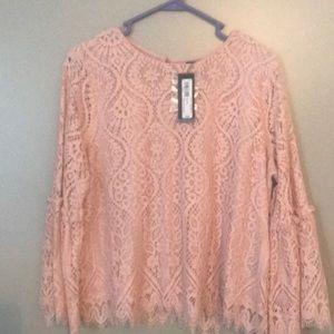 Rose cream blouse